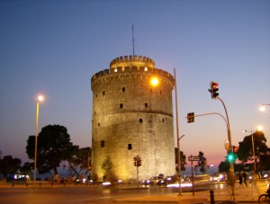 The White Tower--the symbol of Thessaloniki.
