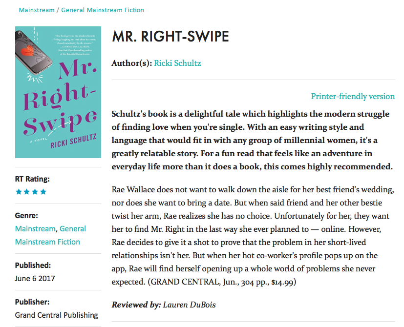 RT Book Reviews_Mr. Right-Swipe